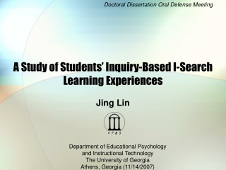 A Study of Students' Inquiry-Based I-Search Learning Experiences