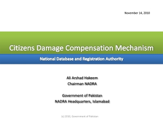 Citizens Damage Compensation Mechanism