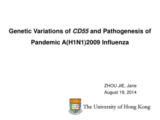 Genetic Variations of  CD55  and Pathogenesis of Pandemic A(H1N1)2009 Influenza