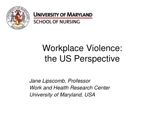 Workplace Violence:  the US Perspective