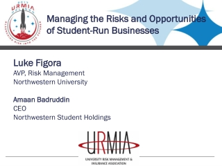 Managing the Risks and Opportunities of Student-Run Businesses