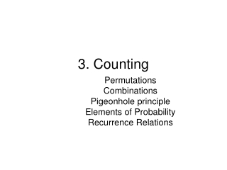 3. Counting