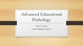 Advanced Educational Pschology