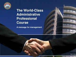 The World-Class Administrative Professional  Course