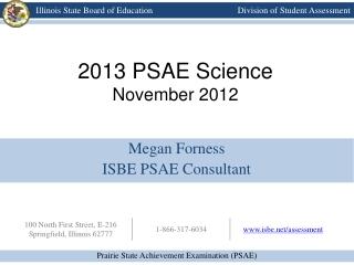 2013 PSAE Science November 2012