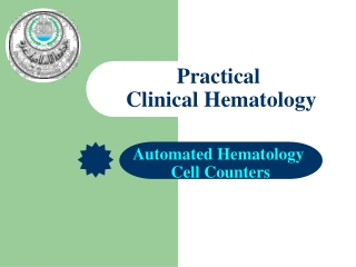 Automated Hematology  Cell Counters