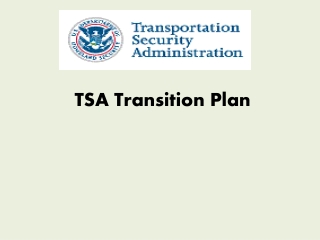 TSA Transition Plan