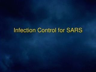 Infection Control for SARS