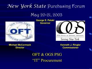 """OFT & OGS PSG  """"IT"""" Procurement"""