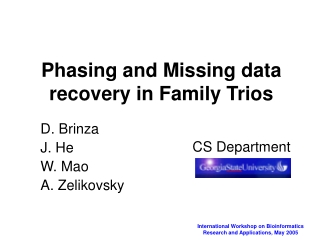 Phasing and Missing data recovery in Family Trios