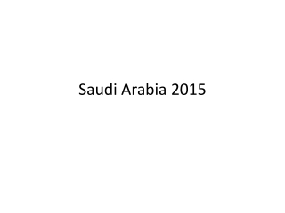 Saudi Arabia 2015