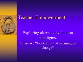 Teacher Empowerment