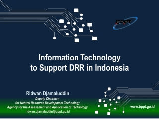 Ridwan Djamaluddin Deputy Chairman  for Natural Resource Development Technology