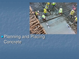 Planning and Placing Concrete