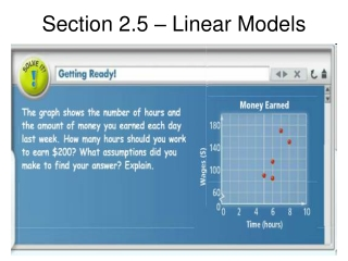 Section 2.5 – Linear Models