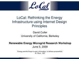 LoCal: Rethinking the Energy Infrastructure using Internet Design Principles
