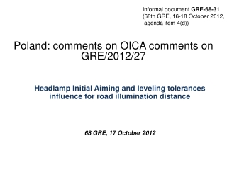 Poland :  comments on OICA comments on GRE/2012/27