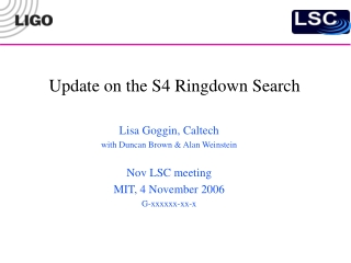 Update on the S4 Ringdown Search