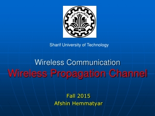 Wireless Communication Wireless Propagation Channel