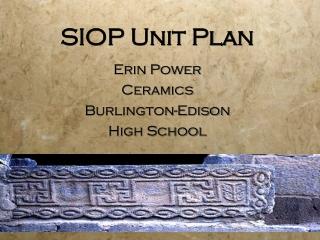 SIOP Unit Plan