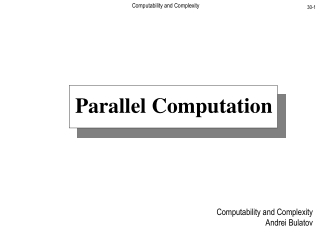 Computability and Complexity