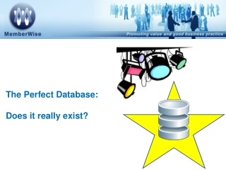 The Perfect Database:  Does it really exist?
