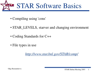 STAR Software Basics