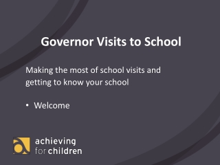 Governor Visits to School