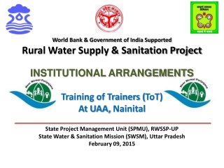 World Bank & Government of India Supported  Rural Water Supply & Sanitation Project