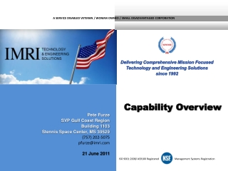 ISO 9001:2008/ AS9100 Registered  Management Systems Registration
