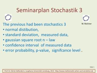 Seminarplan Stochastik 3