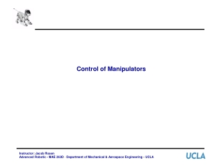 Control of Manipulators