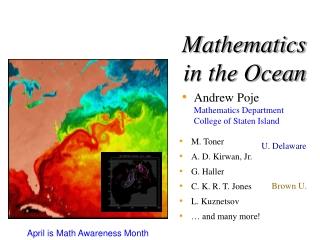Mathematics in the Ocean
