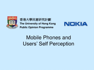 Mobile Phones and Users' Self Perception