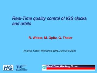 R. Weber, M. Opitz, G. Thaler