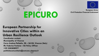 European Partnership for Innovative Citieswithin an UrbanResilienceOutlook