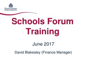 Schools Forum Training