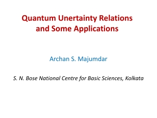 Quantum Unertainty Relations and Some Applications