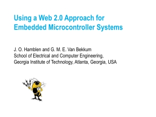 Using a Web 2.0 Approach for  Embedded Microcontroller Systems
