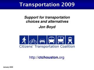Transportation 2009