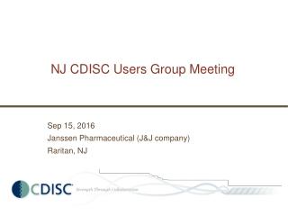 NJ CDISC Users Group Meeting