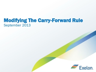 Modifying The Carry-Forward Rule