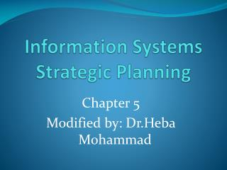 Information Systems Strategic Planning