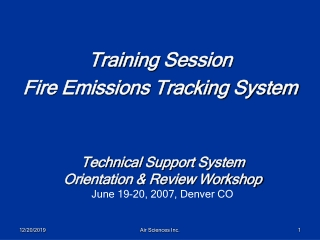 Training Session  Fire Emissions Tracking System