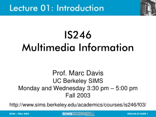 Lecture 01: Introduction