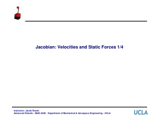 Jacobian: Velocities and Static Forces 1/4