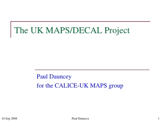 The UK MAPS/DECAL Project