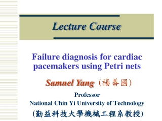 Failure diagnosis for cardiac pacemakers using Petri nets