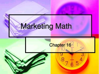 Marketing Math