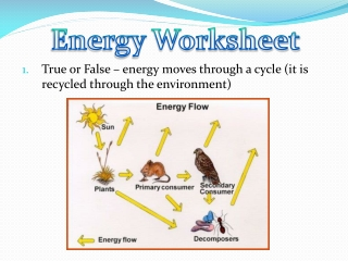 True or False – energy moves through a cycle (it is recycled through the environment)